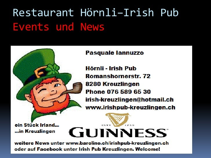 Restaurant Hörnli–Irish PubEvents und News