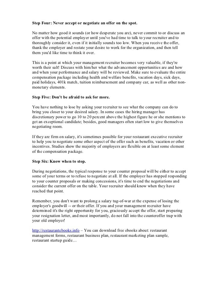 Sample Counter Offer Letter Vacation from image.slidesharecdn.com
