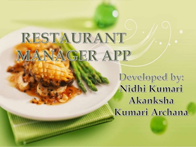 Restaurant Manager App