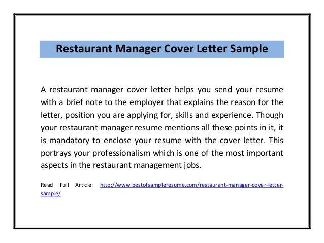 Gentil Sample Restaurant Manager Resume