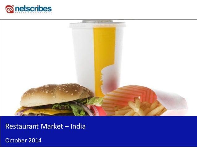 Insert Cover Image using Slide Master View  Do not distort  Restaurant Market – India  October 2014