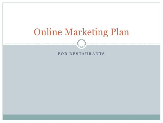 Restaurant online marketing plan