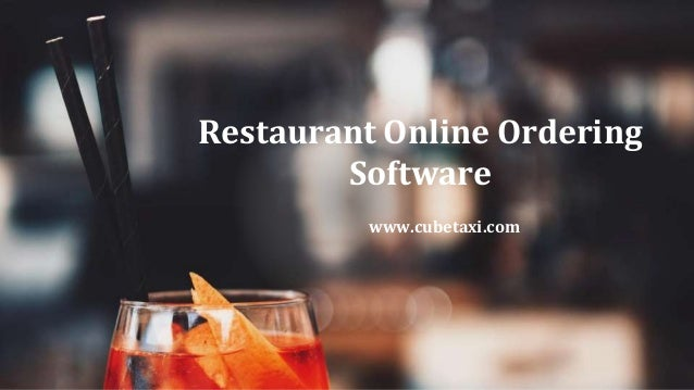 Restaurant Online Ordering Software www.cubetaxi.com