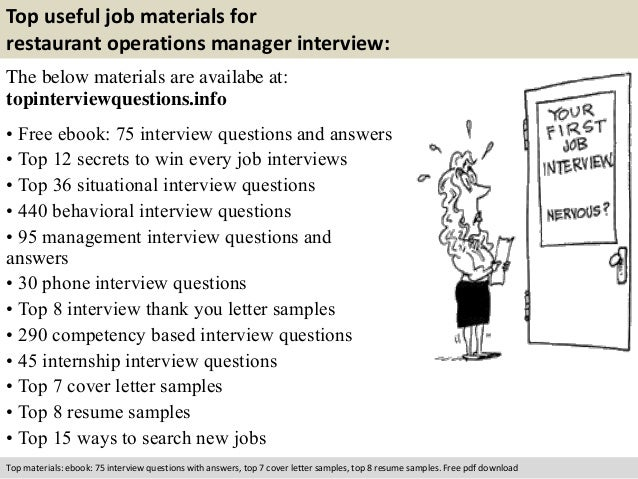 interview questions for an operations manager