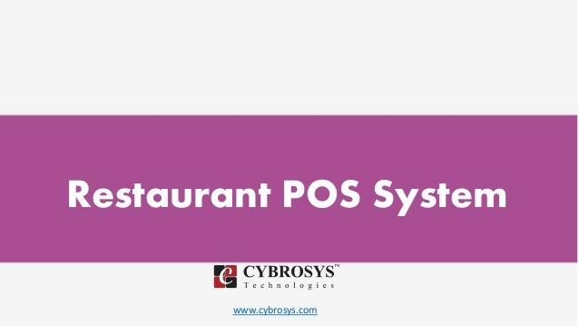 www.cybrosys.com Restaurant POS System