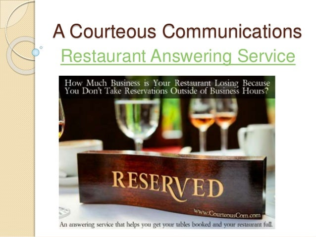 A Courteous Communications Restaurant Answering Service