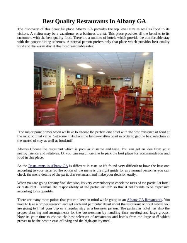 Cost Effective Restaurants In Albany Ga