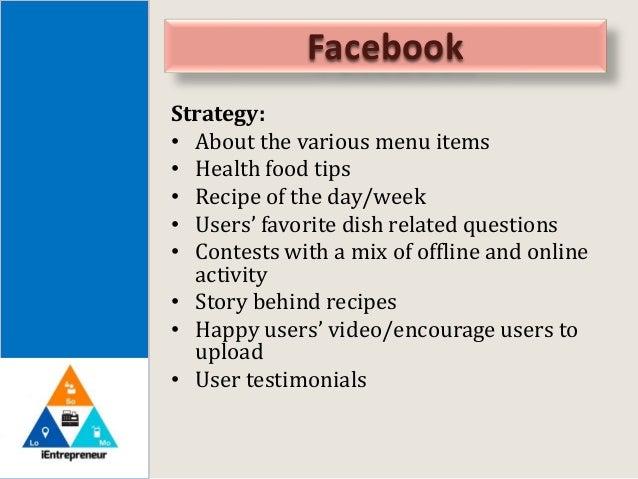 Restaurant social media marketing proposal