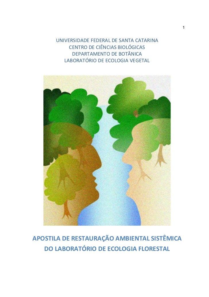 1      UNIVERSIDADE FEDERAL DE SANTA CATARINA           CENTRO DE CIÊNCIAS BIOLÓGICAS            DEPARTAMENTO DE BOTÂNICA ...