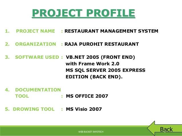 Restaurent management system