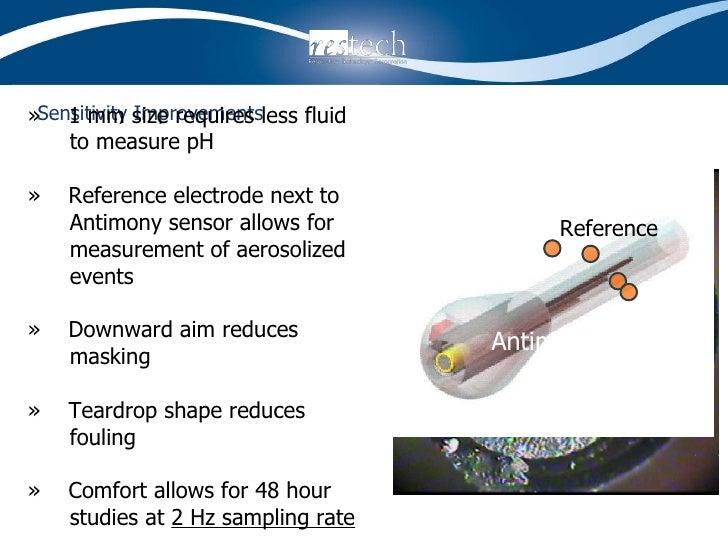 Sensitivity Improvements <ul><li>»  1 mm size requires less fluid </li></ul><ul><li>to measure pH </li></ul><ul><li>»  Ref...