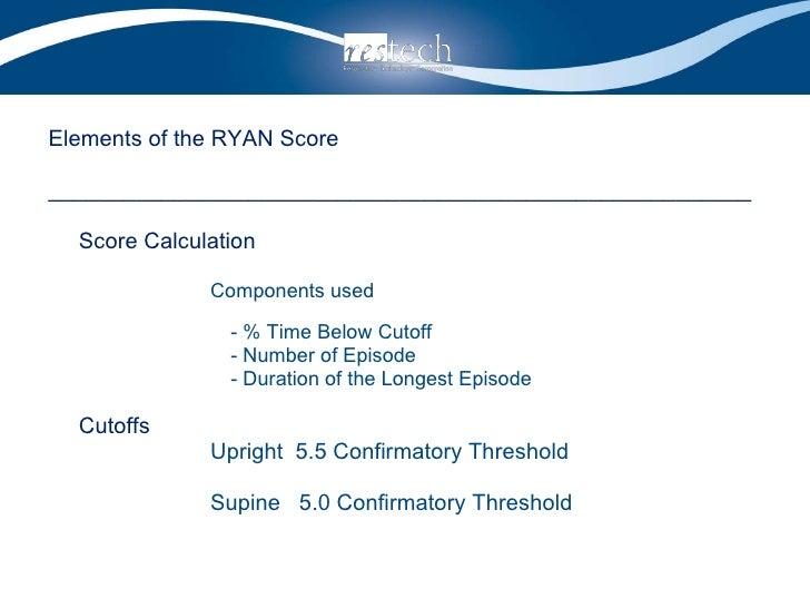 <ul><li>Elements of the RYAN Score </li></ul><ul><li>________________________________________________________ </li></ul><u...