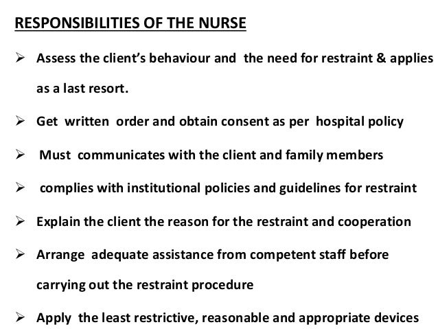 the role and responsibilities of a nurse Registered nurse duties vary as per the areas of their expertise they play a key role in promoting the wellness by performing a wide range of services the profession of a registered nurse comes along with complexities and major responsibilities it is a challenging vocation that demands versatility and.