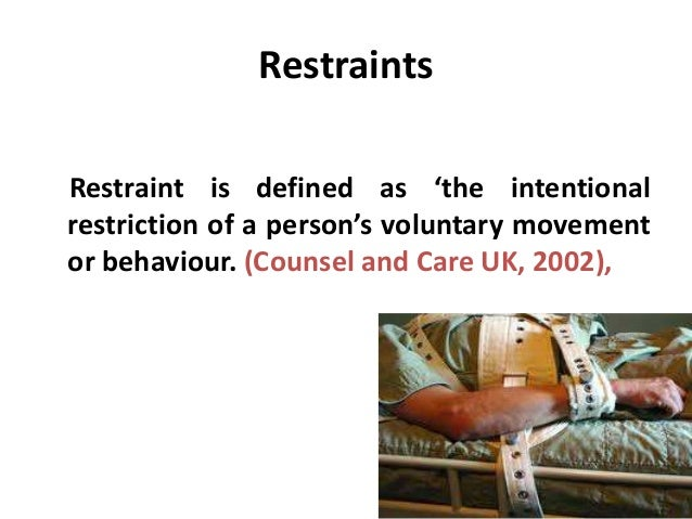 "nursing restraints Brochure from multiple resources that address the ""use of restraints"" in nursing homes publication number 02-18/rev3/7/07  for further information and available."