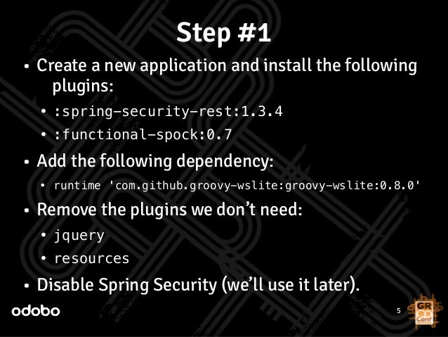 Workshop: Creating RESTful API's with Grails and Spring
