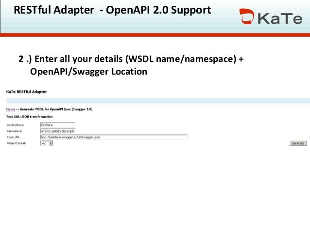 OpenAPI 2 0 with SAP PO / SAP PI & KaTe's RESTful adapter