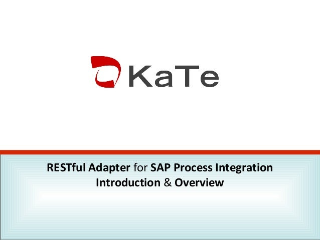 RESTful Adapter for SAP Process Integration Introduction & Overview