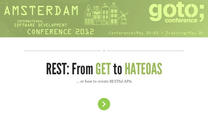 JPoint REST: From GET to HATEOAS      … or how to create RESTful APIs