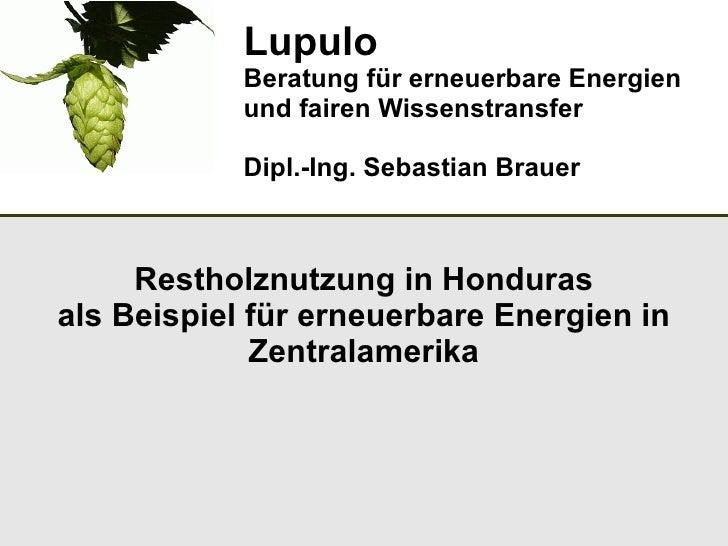Lupulo            Beratung für erneuerbare Energien            und fairen Wissenstransfer            Dipl.-Ing. Sebastian ...