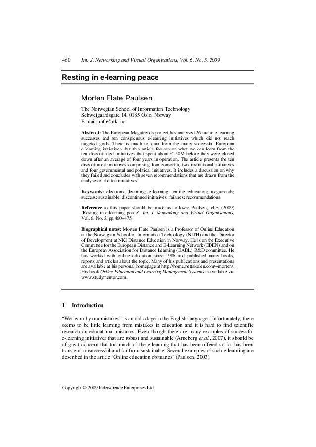 460 Int. J. Networking and Virtual Organisations, Vol. 6, No. 5, 2009 Copyright © 2009 Inderscience Enterprises Ltd. Resti...