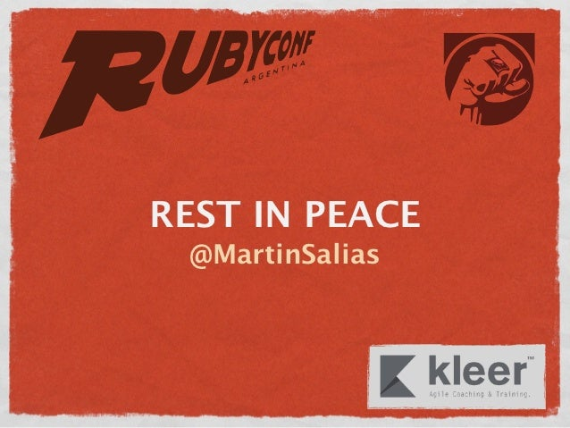 REST IN PEACE @MartinSalias
