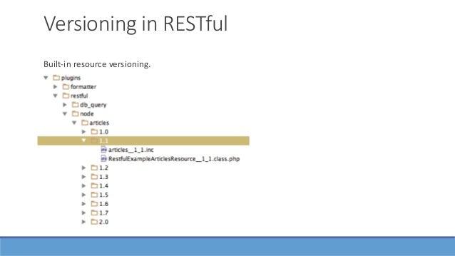 Bonus: Drupal as an API Client 1. drupal_http_request()/ curl_exec() 2. RESTClient — Wrapper for 1. 3. Guzzle — PHP HTTP c...