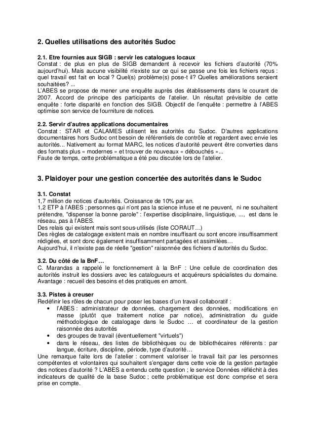 Jabes 2007 - Restitution atelier 3 Slide 2