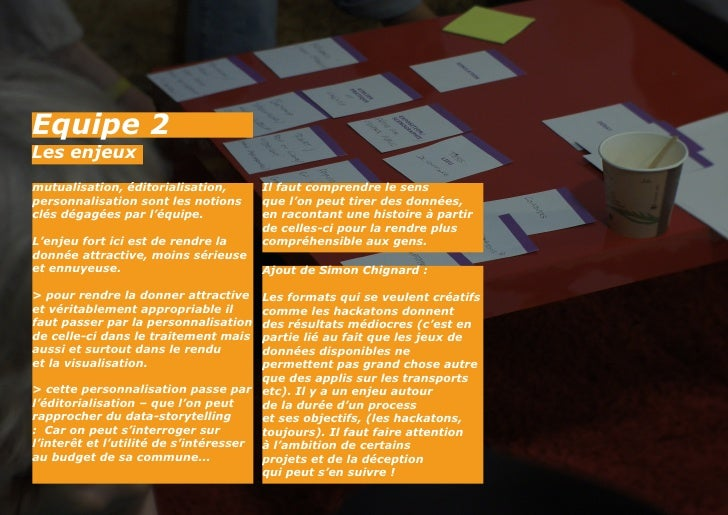 Equipe 2Les enjeuxmutualisation, éditorialisation,      Il faut comprendre le senspersonnalisation sont les notions     qu...