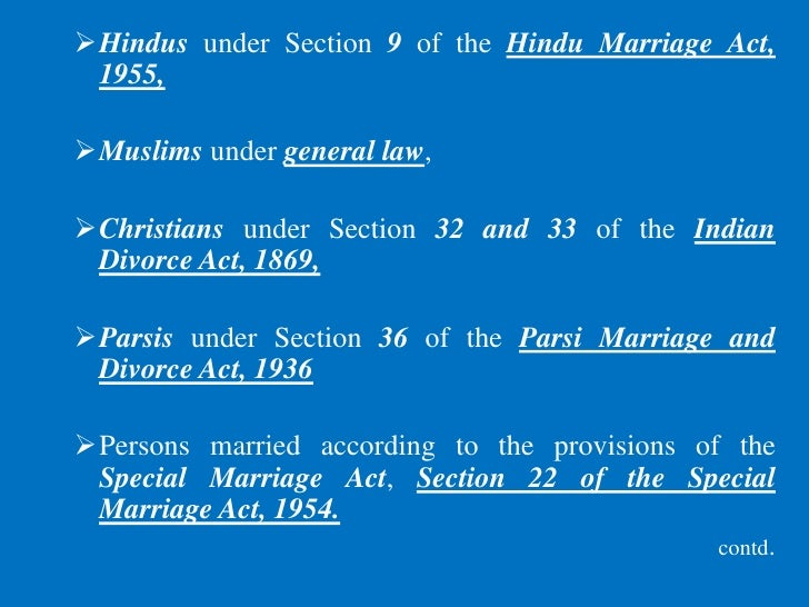 restitution of conjugal rights section 9