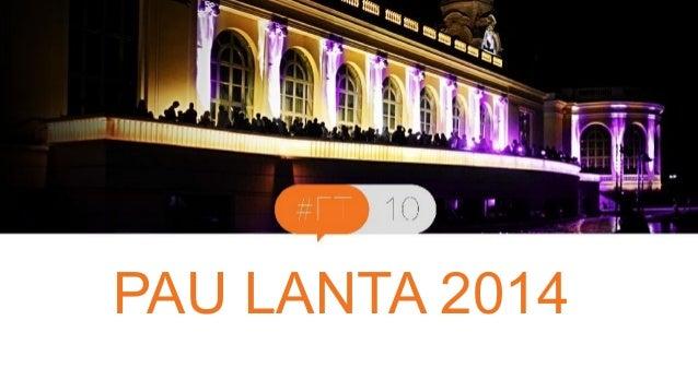 PAU Titre LANTA de la présentation  2014  Intervenant - date