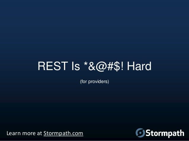 rest is easy learn more at stormpathcom 9