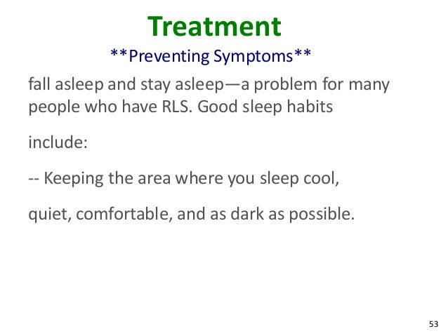 Restless leg syndrome adopting good sleep habits can help you 52 54 ccuart Gallery