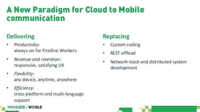 MongoDB World 2019: REST-less Mobile Apps: Why Offline-first and Sync…