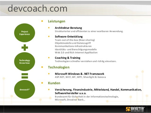 devcoach.com ■ Leistungen ■ Architektur-Beratung Strukturierter und effizienter zu einer wartbaren Anwendung. ■ Software-E...