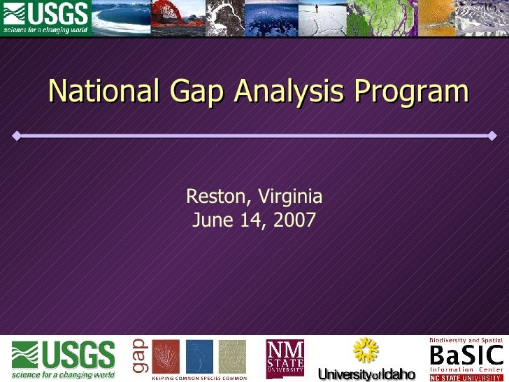 National Gap Analysis Program Reston, Virginia June 14, 2007