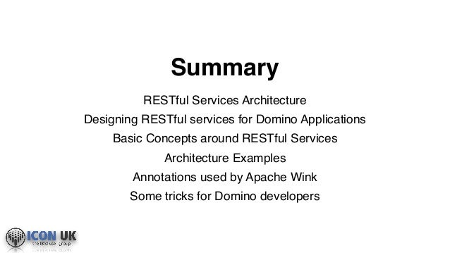 ICONUK 2016: REST Assured, Freeing Your Domino Data Has