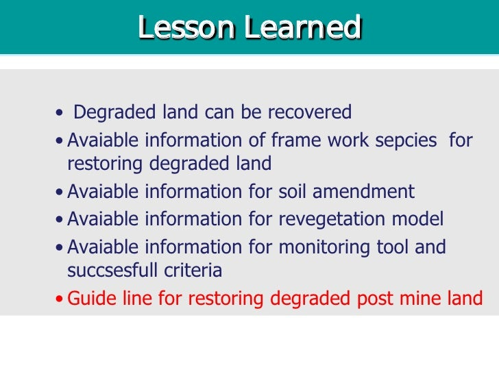 restoring land after mining pdf