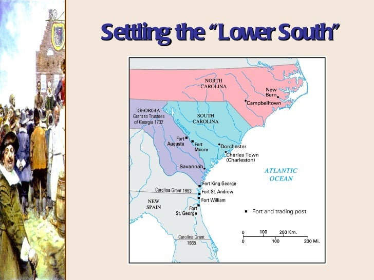 the lower south colonies