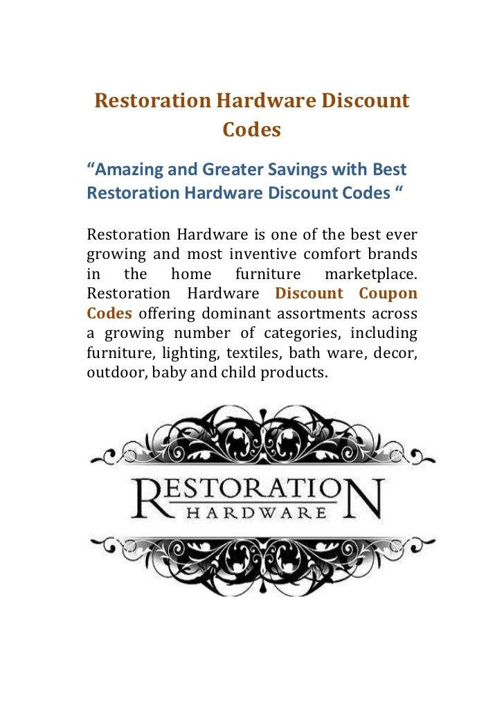 coupons for restoration hardware furniture