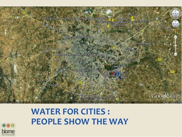 WATER FOR CITIES : PEOPLE SHOW THE WAY