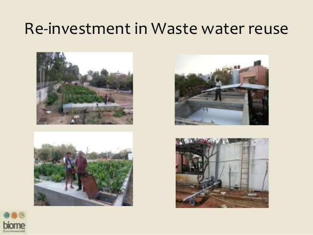 Re-investment in Waste water reuse