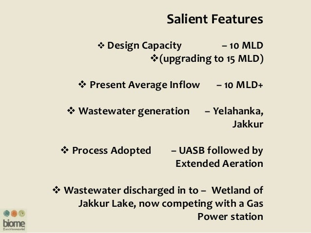 Treated Wastewater entering the wet Land System of Jakkur Lake