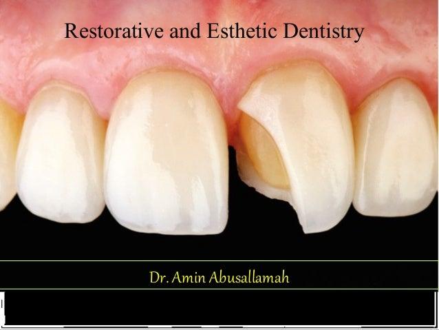 Dr. Amin AbusallamahDr. Amin Abusallamah Restorative and Esthetic Dentistry
