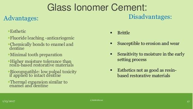 Restorative materials in dental caries