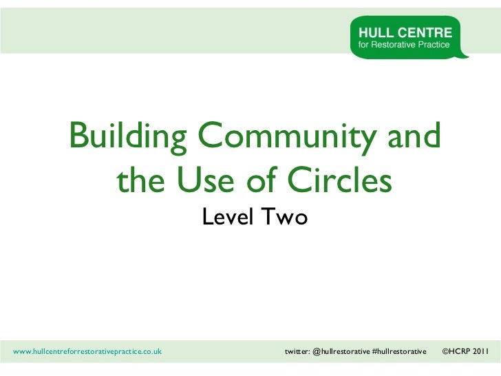 1 Building Community and the Use of Circles Level Two