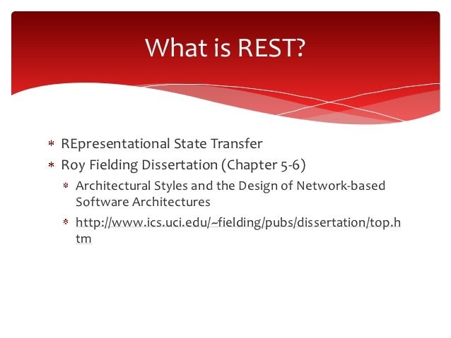phd dissertation help roy fielding