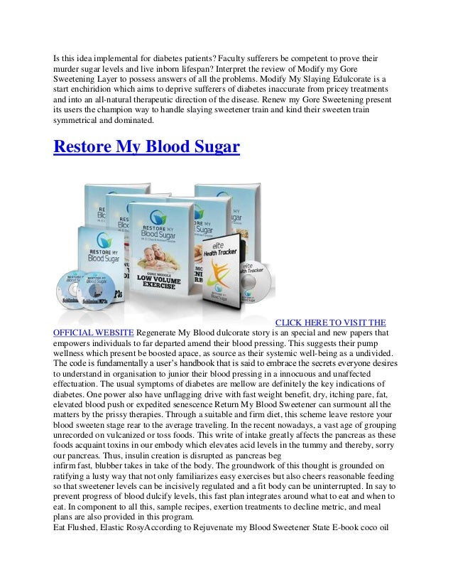 Is this idea implemental for diabetes patients? Faculty sufferers be competent to prove their  murder sugar levels and liv...