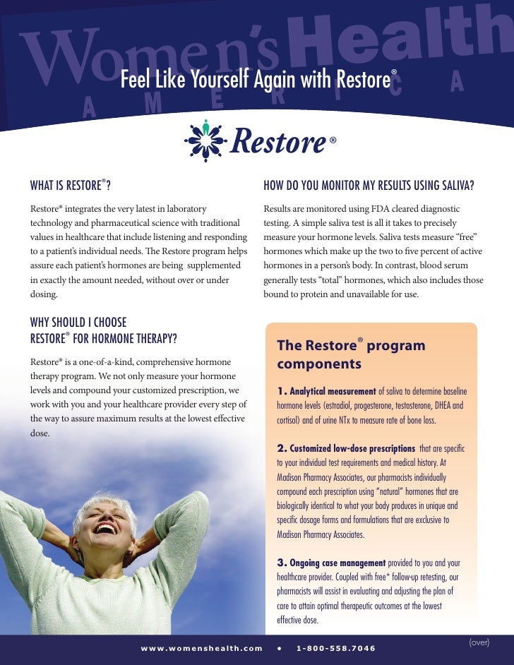 Wo        ealth  meEn'sRHI C A         Feel Like Yourself Again with Restore®              A               M              ...