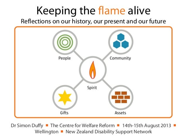 Keeping the flame alive Reflections on our history, our present and our future Dr Simon Duffy ■ The Centre for Welfare Ref...