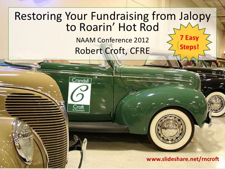 Restoring Your Fundraising from Jalopy          to Roarin' Hot Rod           NAAM Conference 2012          7 Easy         ...